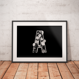 A-letter black and white poster